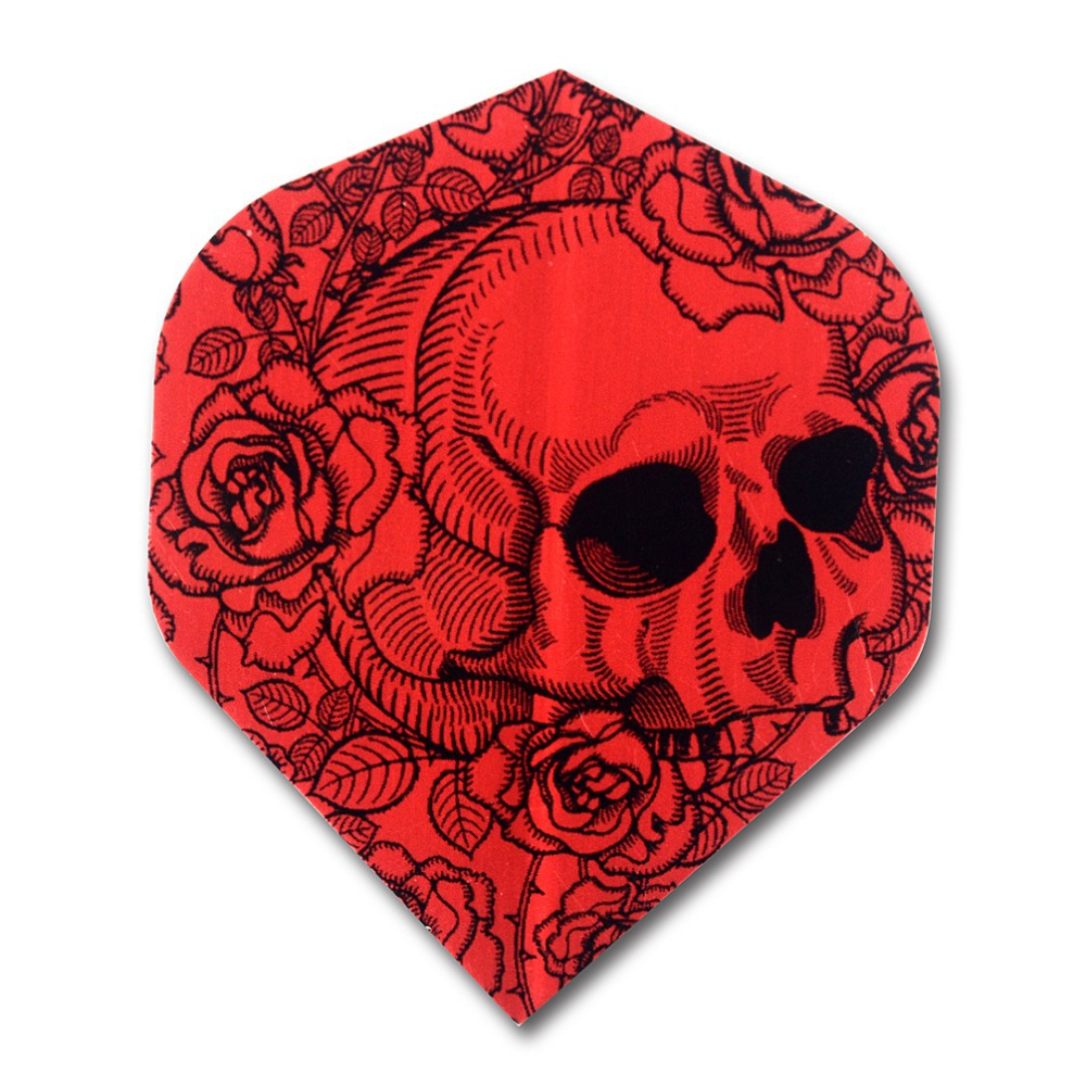 CUESOUL DHOLE Series 5 Set Design Red Skull Dart Flights Wholesale For Steel Tip Darts and Soft Tip Darts in Darts from Sports Entertainment