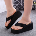 High-end fashion career girl with light slope bottom muffin sandals home shopping and leisure resort essential flops 6 color