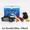 Câmera De Estacionamento Para Hyundai HB20 HB20X/RCA AUX Fio Ou sem fio/HD Ampla Ângulo Da Lente/CCD Night Vision Câmera de Visão Traseira