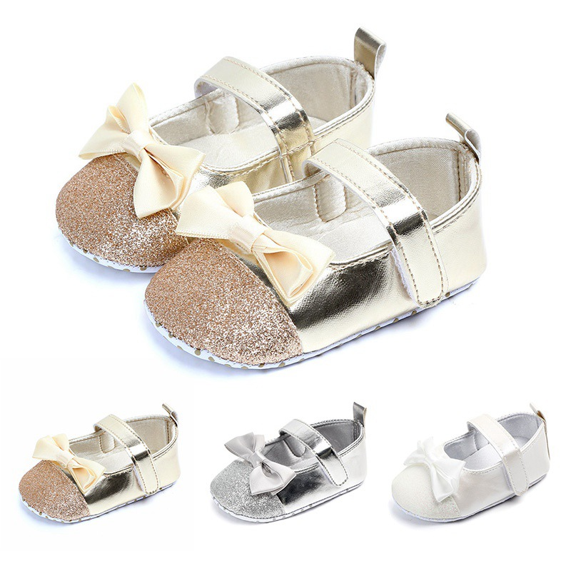 Toddler Baby Shoes Newborn Girls Soft Soled Princess Crib Shoes/' Prewalker 0-12M