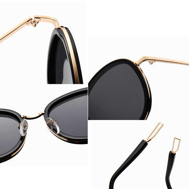 CAT EYE VINTAGE VINTAGE แว่นตากันแดดแฟชั่นผู้หญิงฤดูร้อน oculos de SOL feminino UV400 เลนส์