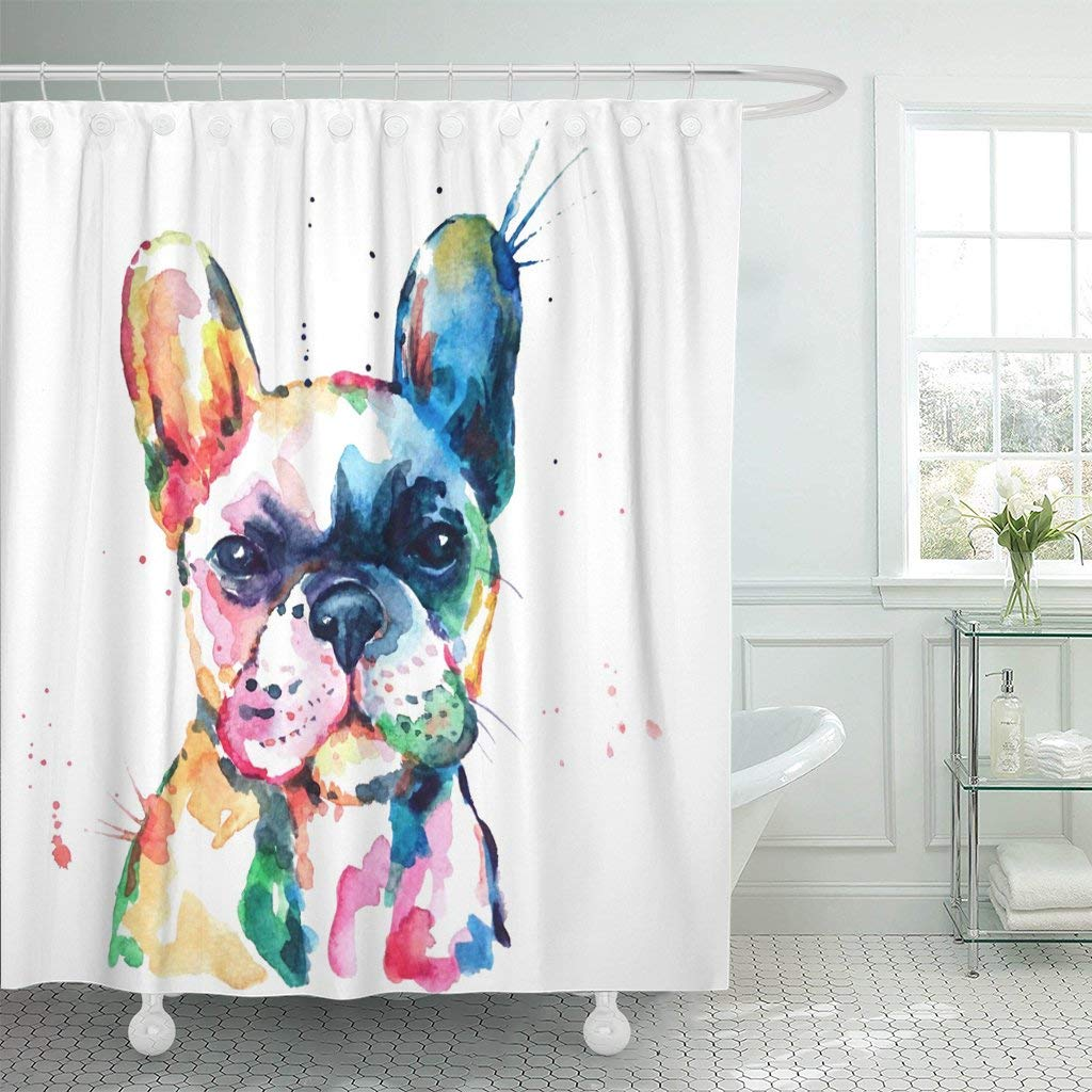 3d Shower Curtain Frenchie French Bulldog Original