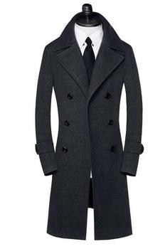 Autumn Double-breasted wool coat mens trench coats slim fashion casual coat men overcoat jaqueta masculina plus size S – 9XL
