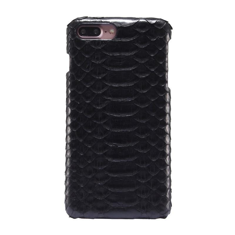 imágenes para Natural Verdadera Del Cuero Genuino Para el iphone 7 Plus Piel de Serpiente Pitón de Lujo 3D i7 7 Plus Cubierta Del Teléfono Móvil casos