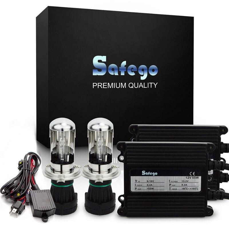 Safego AC 12 V hid xénon kit 55 w H4-3 Bi xénon H4 haute basse salut/lo Bixenon kit 4300 K 5000 K 6000 K h4 xénon 55 w voiture phares ampoules
