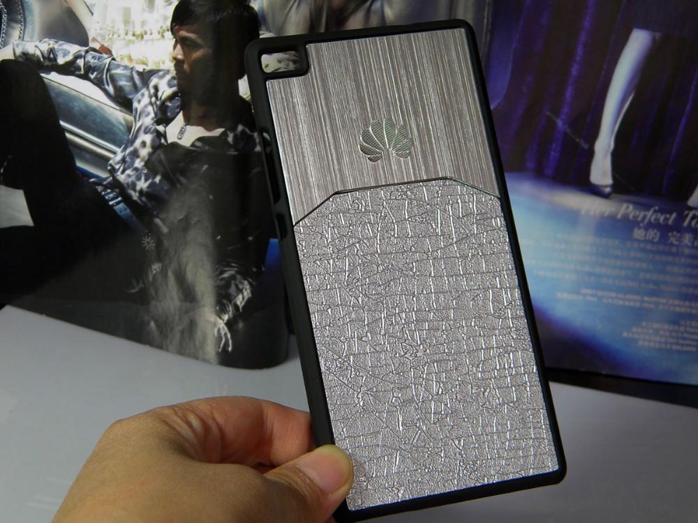 Dla huawei p8 lite case p9 lite plus honor 8 p9 pokrywy hybird Szczotkowanego aluminium Metal z Luksusowych Skóry materiał darmowa wysyłka 7