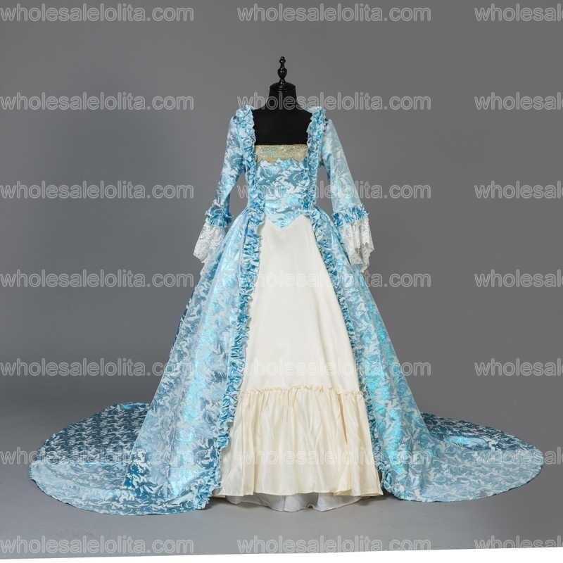 Custom Made Victorian Fancy Masquerade Klänningar Brocade Wedding - Särskilda tillfällen klänningar - Foto 2