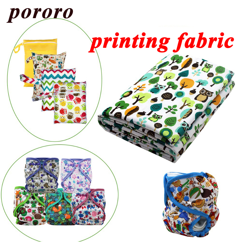 100% Polyester Tryckt Digital Printing Fabric Vattentät Baby Cloth Diaper TPU Coating säljs av Meter Wholesale Customization