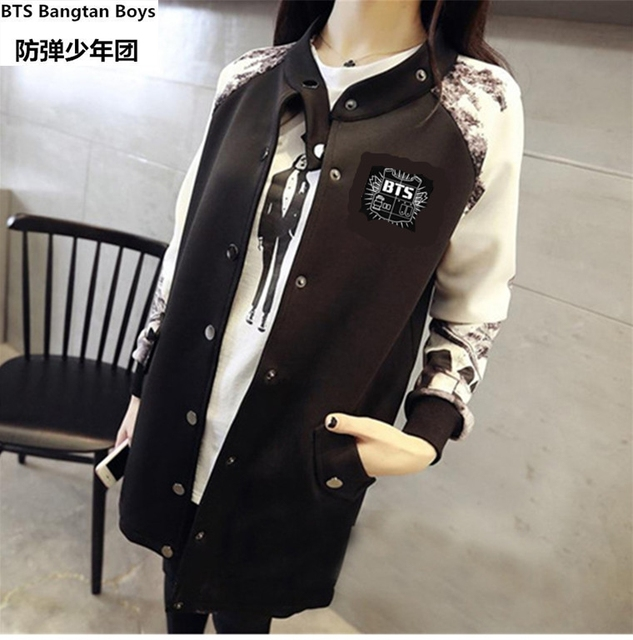 BTS KPOP Baseball Jacket Long-sleeved