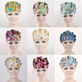 9 Kinds Pattern Flower Printing Scrub Cap Bouffant Medical Surgical Surgery Hat DAJ9018