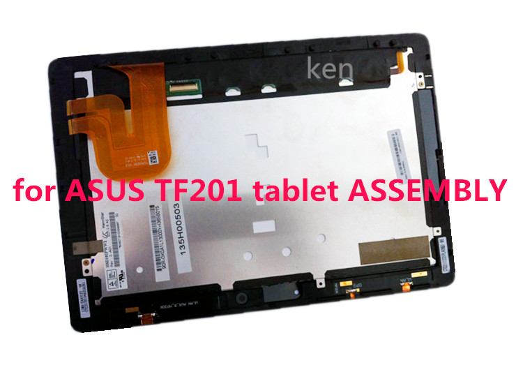 Free Shipping For Asus Transformer Pad TF201 TCP10C93 V0.3 Tablet Glass LCD LED Screen Touch Screen Digitizer Assembly + Frame new for asus eee pad transformer prime tf201 version 1 0 touch screen glass digitizer panel tools