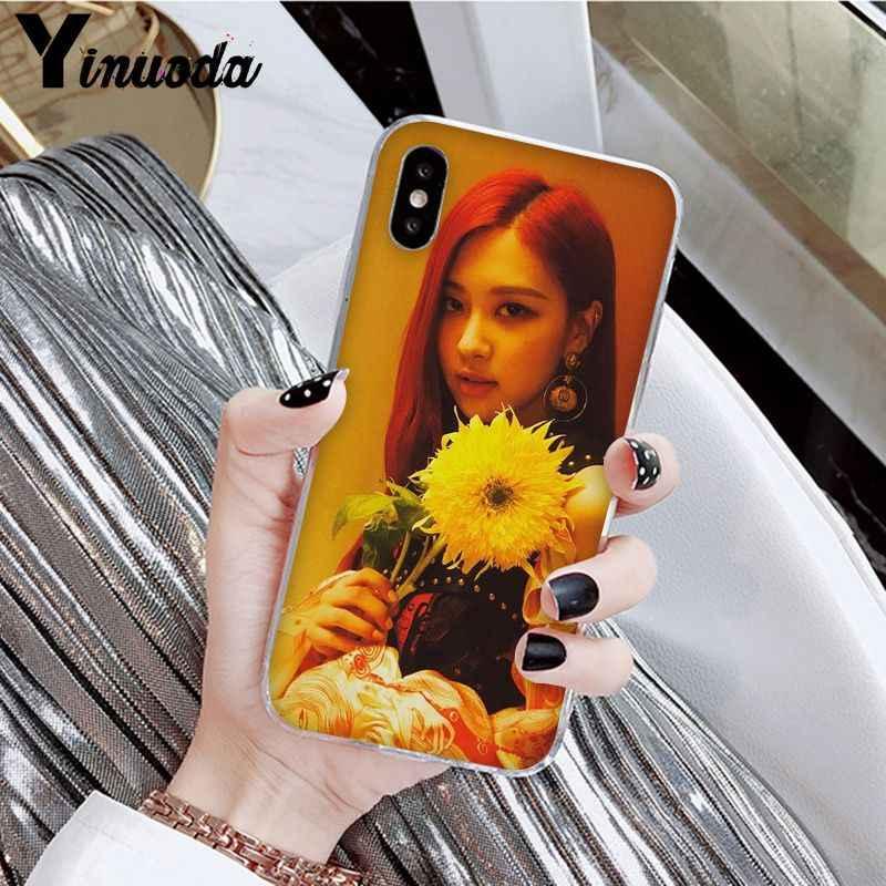 Yinuoda черная розовая роза Kpop клиент высокое качество чехол для телефона для Apple iPhone 8 7 6 6S Plus X XS MAX 5 5S SE XR Чехол для мобильного телефона s
