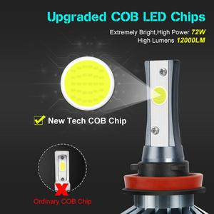 Image 2 - 12000LM Car Headlight Bulbs Error Free H4 H7 H11 H1 H3 9005 9006 HB4 HB3 H27 LED Lamps 880 881 72W 6500K Auto Lights 12V 24V