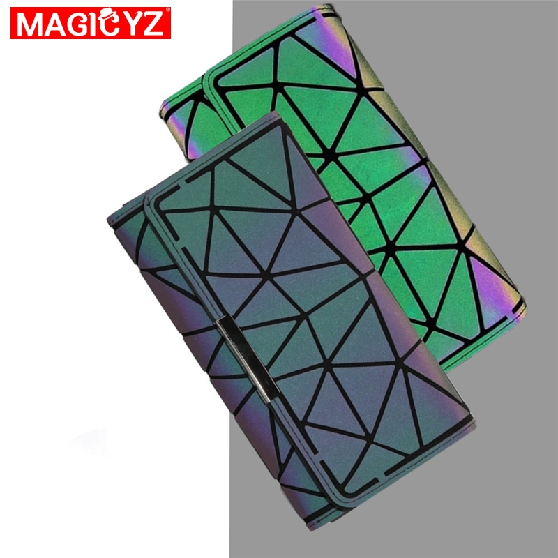 MAGICYZ  Women Wallet Long Handbag Plaid Lattice Geometric Clutch Handbag Luxury Handbag Women Bags Designer Women Wallet Purse