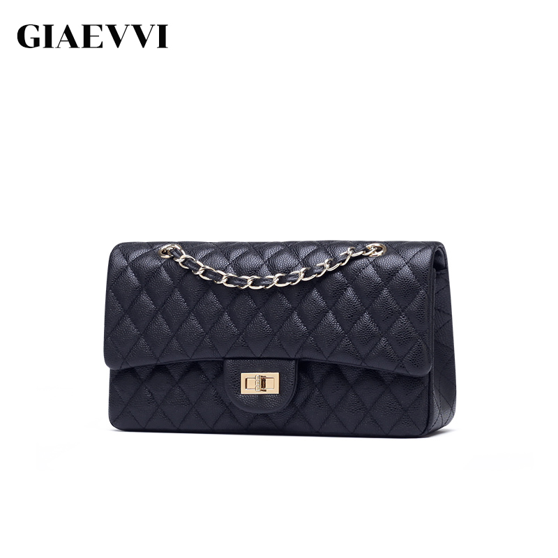 GIAEVVI 2018 New luxury Genuine Leather women Messenger bags Famous Brands women handbag clutch bags Chain small shoulder bag giaevvi women leather handbag small flap clutch genuine leather shoulder bag diamond lattice for grils chain crossbody bags