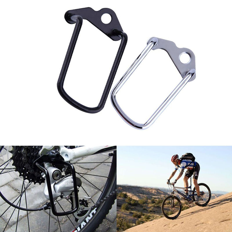 Cycling Bicycle Protective Rear Gear Derailleur Chain Stay Guard Protector Metal Bicycle Mountain Bike Accessories Outdoor Sport