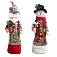 Christmas Decorations For Home Santa Claus Snowman Dolls Christmas Dolls For Kids Party Table Desktop Standing Toys V3