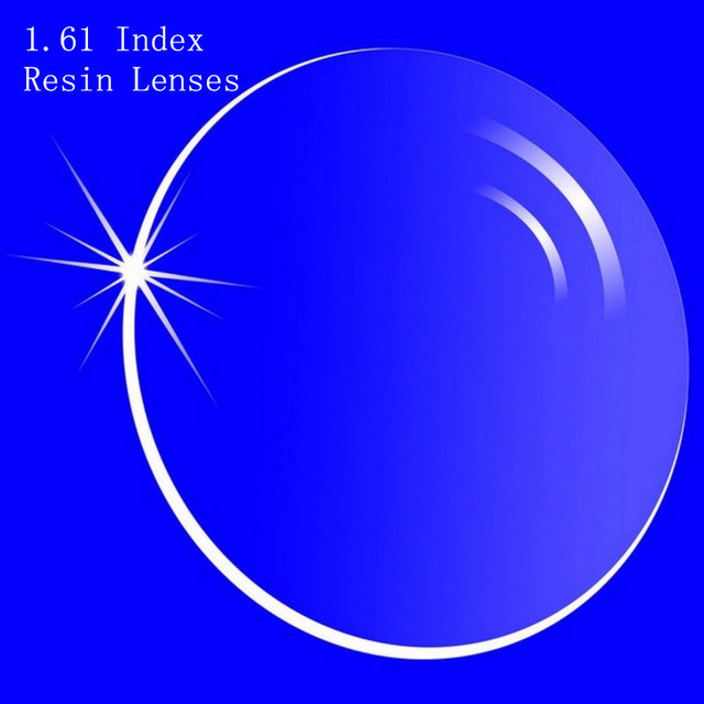 1.61 índice de prescrição lentes CR-39 de resina óculos asféricas lentes para correção de miopia / hipermetropia / presbiopia Extra fino com revestimento