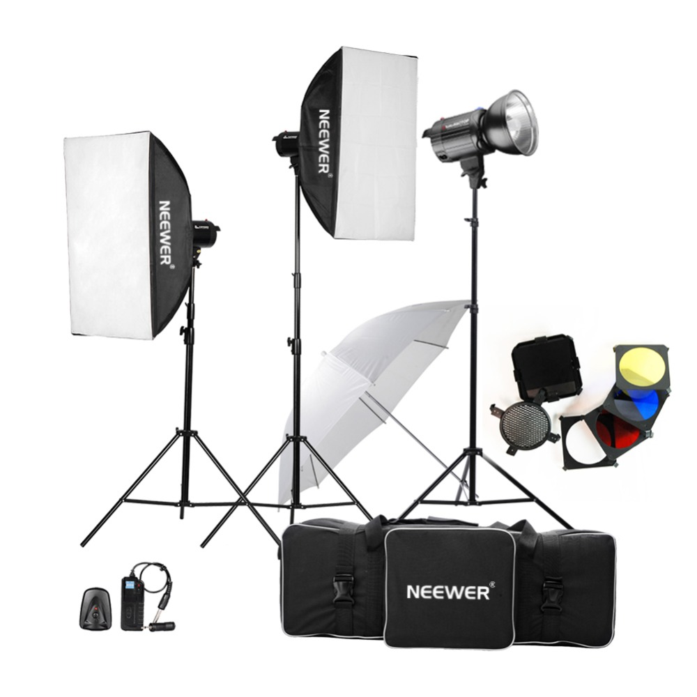 Neewer 1200W Professional Photography Studio Strobe Lamp Flash Light Monolight Kit for Portrait Photography,Studio