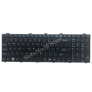 Image 3 - New US Keyboard For  Fujitsu Lifebook AH530 AH531 NH751 A530 A531 Black English Laptop Keyboard