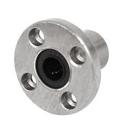 LMF10UU 10mm Inner Dia Round Flange Mounted Linear Ball Bearing Bushing