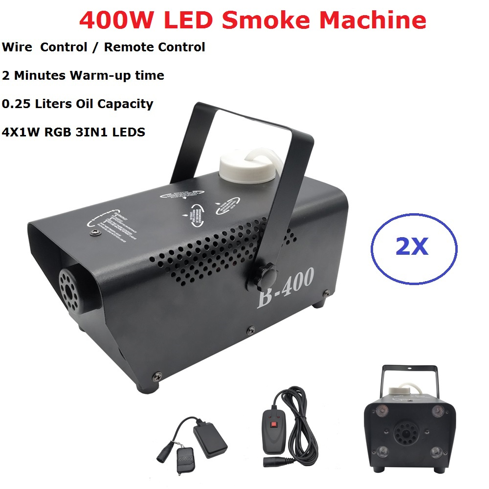 Fast Shipping Disco Colorful 400W Smoke Machine Mini LED Remote Fogger Ejector Dj Christmas Party Stage Lighting Fog Machine in Stage Lighting Effect from Lights Lighting