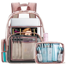 SALE Transparent Pvc Backpack Women Schoolbags Teen Girls Candy Color Jelly Bags Bookbag Ladytravel Crystal Beach