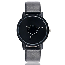 PAIDU Fashion Cool Unique Design Quartz Wrist Watch Turntable Black Dial Clock Hours Mens Womens Gift Unisex relogio relojes