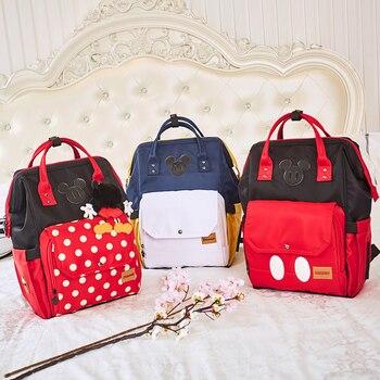 Disney Minnie Baby Bag Fashion Nappy Bags Large Diaper Bag Backpack Organizer Maternity Bags Mother Handbag Baby Diaper Backpack Сумка
