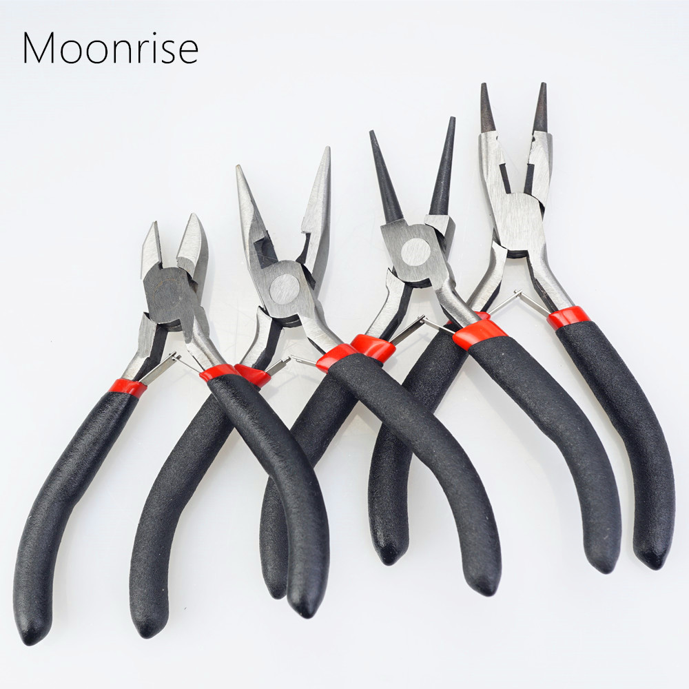 Jewelry Pliers Tools & Equipment Kit Long Needle Round Nose Cutting Wire Pliers For Jewelry Making Handmade Accessories HK043(China)