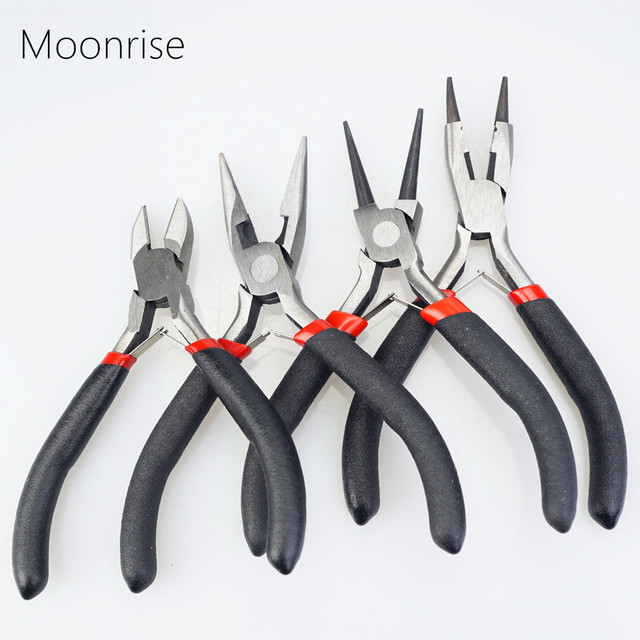 Jewelry Pliers Tools & Equipment Kit Long Needle Round Nose Cutting Wire Pliers For Jewelry Making Handmade Accessories HK043