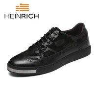 Генрих весна/осень Элитный бренд Классические обувь из натуральной кожи Для мужчин дышащие кроссовки Повседневное Мужская Обувь Sapato Branco