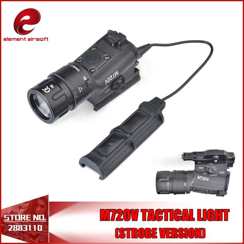 Element M720V Tactical Light Strobe Output Version Tactical Gun Light with M93 Tactical Light Mount Softair EX273 FOR WARGAME