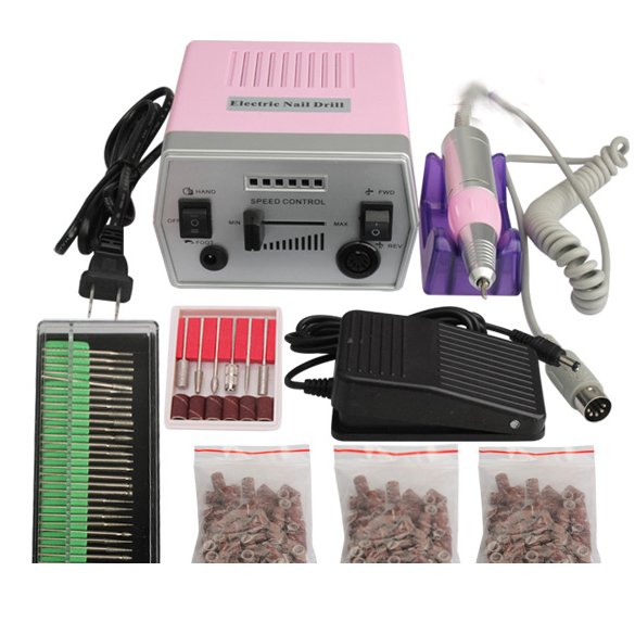 New Professional Nail Art Tool Pro Electric Manicure Machine Set Drill File Kit Pedicure Polish Shape Tool (110V US/220V Europe) electric professional nail art drill machine manicure pedicure pen tool set kit