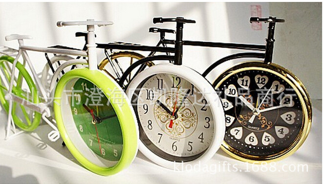 48pcs/lot EMS Express Super cute retro four color creative personalized feature student gift bike lazy alarm clock free shipping
