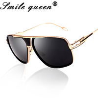 18K Gold Plated Square Men Sunglasses Women Couple Flat Top Luxury Brand Design Ladies Sunglasses Shades