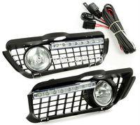 Free shipping FOG LIGHT + BUMPER GRILLE + LED DAYTIME RUNNING LAMP Fit For 92 98 VW JETTA GOLF MK3