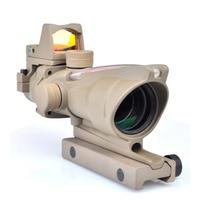 Цель ACOG 4X32 Настоящее Волокно источник красный зеленый горит прицел W/RMR Reflex микро Red Dot тактический Охота