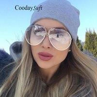 Coodaysuft Classic Clear Gradient Color Sunglasses Cat Eyes Brand Desinger Women UV400 Vintage Sun Glasses Frame