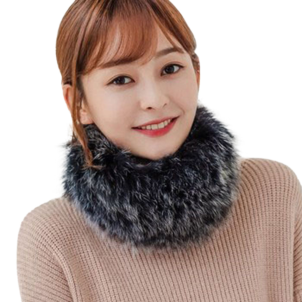 Winter Warm   Scarf   Women Fashion Faux Fox Fur Collar   Scarves   Shawl Stole Furry Neck   Wrap   Circles Snood Female foulard bufanda A2