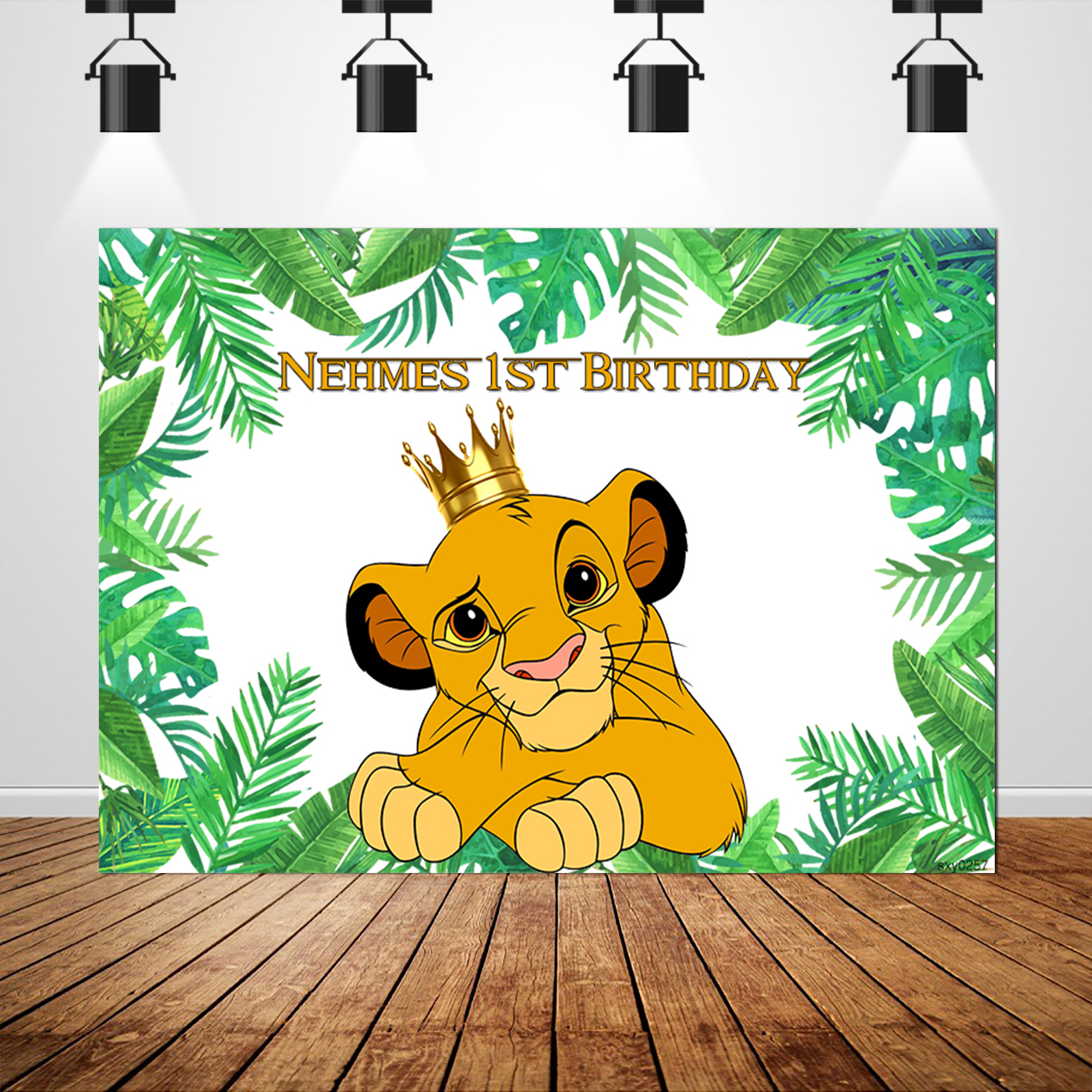 Sxy0257 Vinyl Lion King Party Photography Backdrop Jungle theme Custom Children Birthday Party Backgrounds Photocall 220x150cm