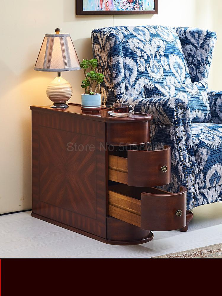 American Sofa Side Cabinet Solid Wood