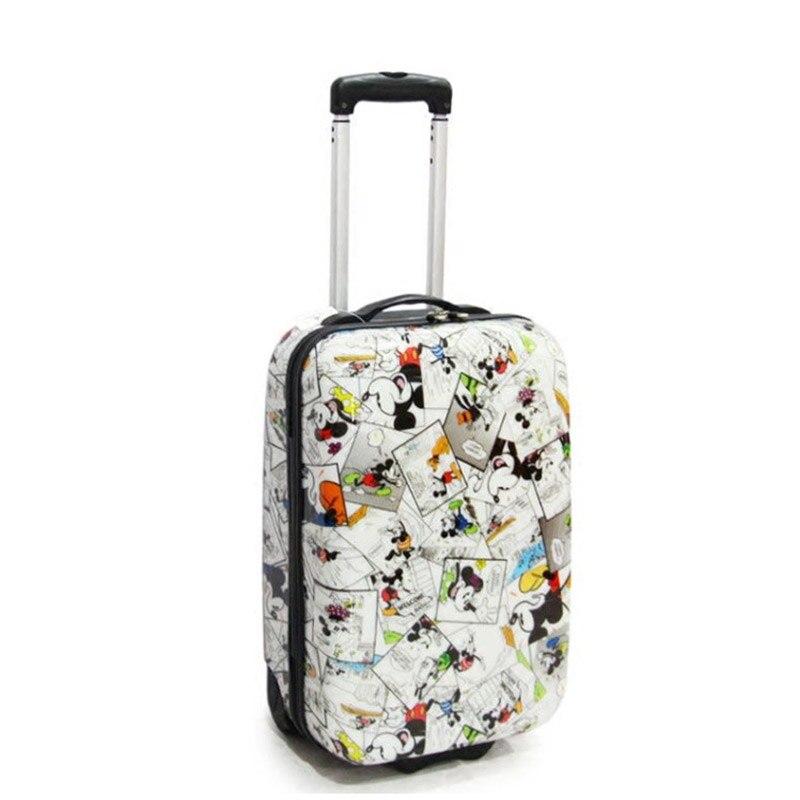 """Opowieść podróży PC ABS kabiny dzieci ładny wózek bagażu 20 """"dla dzieci przenoszenia w podróży walizki na koła w Walizka na kółkach od Bagaże i torby na  Grupa 1"""