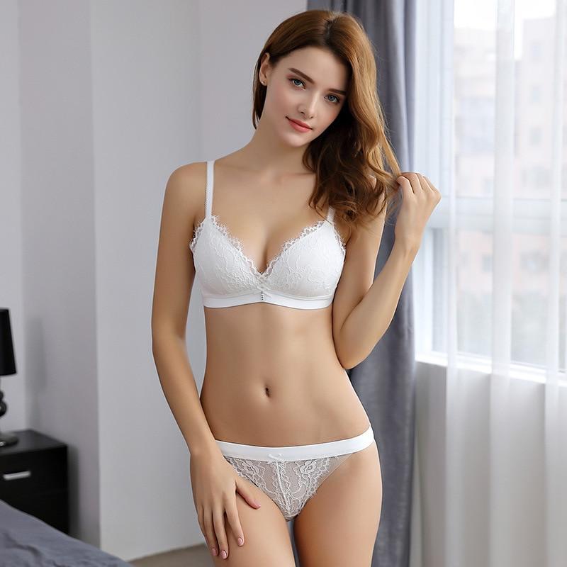New Lace Bra Intimates Wireless Sexy Girls Bralette Push -1827