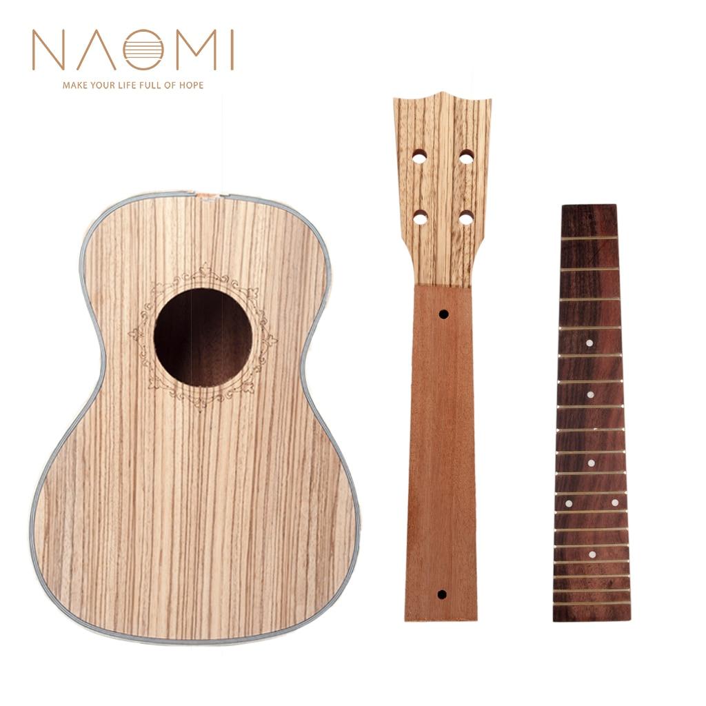 naomi diy ukulele 23 39 39 ukelele hawaii guitar diy kit zebrawood body mahogany neck rosewood. Black Bedroom Furniture Sets. Home Design Ideas