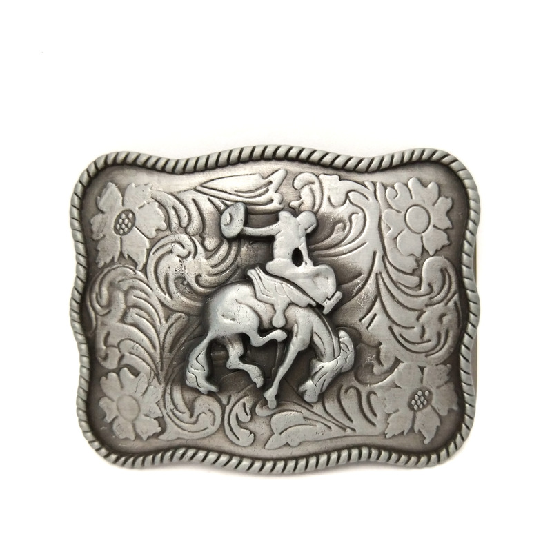 The Cowboys Of The West Belt Buckle Knight Metal Man Belt Buckle For 4.0