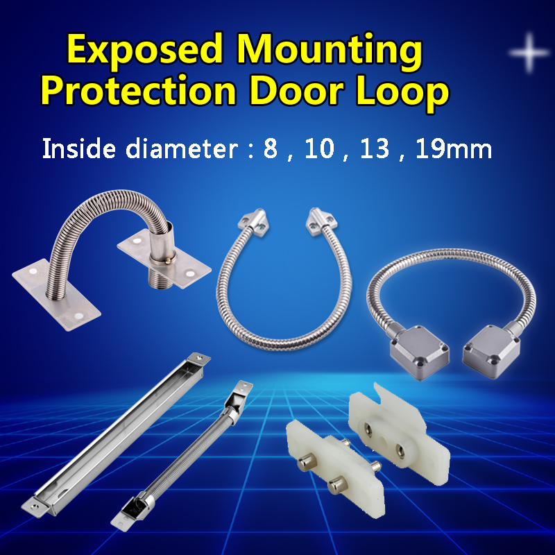 SZBestWell Door Loop Exposed Mounting Protection Sleeve Access Control Cable for Access Control Door Lock Stainless Steel