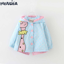 Menoea Baby Outerwear&Coats Fashion Cartoon Hooded Girls Coats Cute Jackets Kids boys Clothes 0-24M Children Clothing