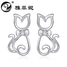 earrings cat zircon earrings earrings wholesale jewelry manufacturer undertakes to Europe and the United States girl цена 2017