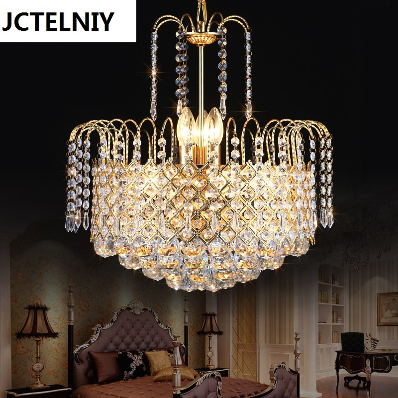 Classic Gold Luxury Crystal Chandeliers with Elegant K9 Crystals for Christmas Living Room Decoration atx crystals crystal set am ch84